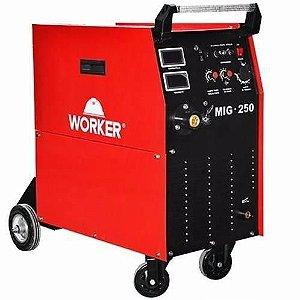 Máquina de Solda MIG/MAg 250a Trifásica - Worker