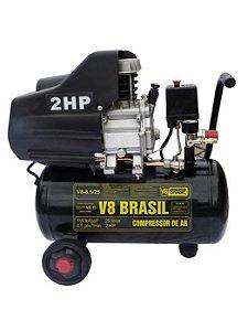 Compressor De Ar 8,5 Pés 25 Litros 220v - V8 Brasil