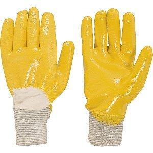 Luva de malha com borracha nitrilon cor amarela Promat