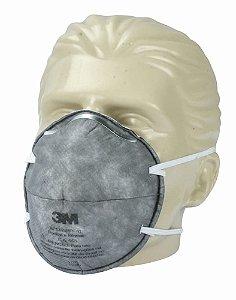 Máscara Descartável sem Válvula 8713 com Carvão Ativado - 3M