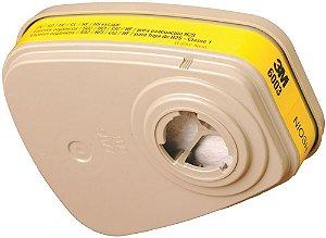 Filtro para Respirador Serie 6000 6003 Vapores Orgânicos e Ácidos - 3M