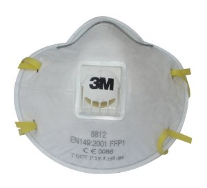 Respirador Descartável com Válvula PFF1 Mod. 8812 para poeiras e névoas tóxicas - 3M