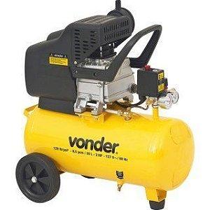 Compressor de Ar 2 Hp 30 Litros 8,5 pés MCV085 - Vonder