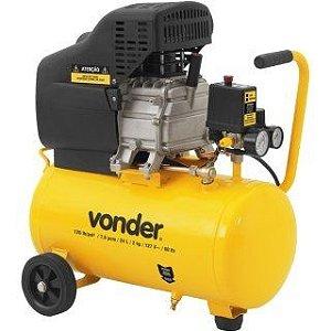 Compressor de Ar 2 Hp 24 litros 7,6 pés MCV076 - Vonder