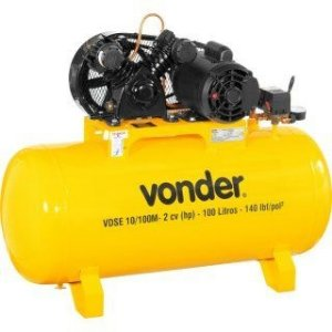 Compressor de Ar 2 Hp 100 litros Monofásico VDSE10/100M - Vonder