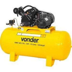 Compressor de Ar 3 Hp 175 litros Monofásico VDAT15/175M - Vonder