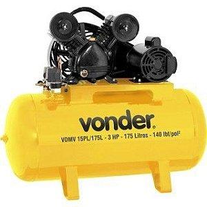 Compressor de ar VDMV 15 PL/175L trifásico 220V/380V Vonder