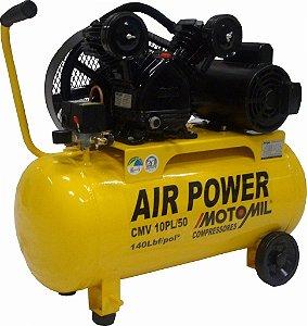 Compressor de Ar 2 Hp 50 litros 9 pés CMV10PL/50 Monofásico Bivolt - Motomil