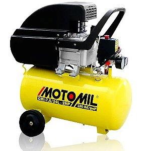 Motocompressor Ar 2 hp 7,6 pes 24 litros CMI-7,6/24 - Motomil