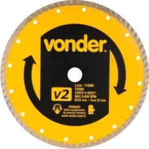 Disco De Corte Diamantado 230mm Turbo V2 - Vonder