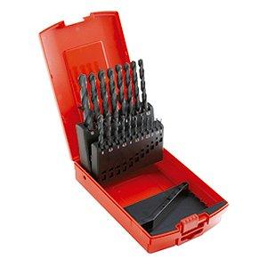 Jogo de Brocas Aço Rápido com 25 peças de 1,0 à 13,0 mm - Dormer