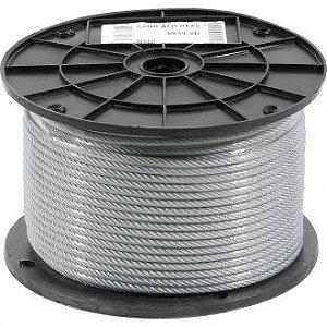 "Cabo de aço plastificado, alma de fibra, 4,76 mm 3/16"", 6 x 19M, Metro - Vonder"