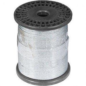 "Cabo de aço plastificado, alma de fibra, 3,18 mm 1/8"", 6 x 7, Metro - Vonder"