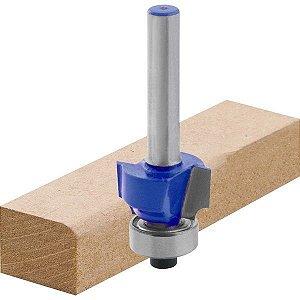 Fresa para Tupia 18x12mm Quebra Canto com rolamento H 6mm - Eccofer