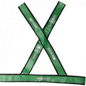 Colete Refletivo Tipo X Verde - Plastcor