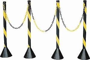 Pedestal de Sinalização para Corrente em PVC tipo Zebrado - Plastcor