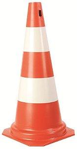 Cone de Sinalização 50cm Amarelo e Preto - Plastcor
