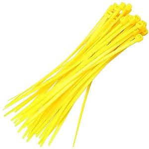 Abraçadeira Em Nylon Amarela 140 X 3,6 Mm Com 20 Unidades