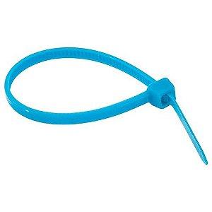 Abraçadeira Em Nylon Azul 2,5 X 100 Mm Com 100 Unidades