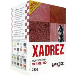 Pigmento em Pó Xadrez 250g Vermelho - Lanxess