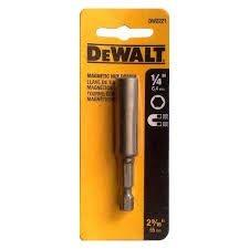 """Soquete magnético encaixe 1/4"""" DW2221 - Dewalt"""