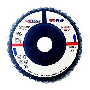 Flap Disc Reto 4.1/2 Grão 120 - Rex