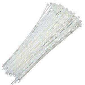 Abraçadeira Em Nylon Branca 2,5 X 120 Mm Com 100 Unidades
