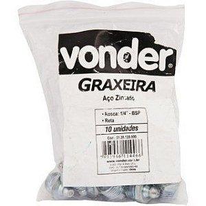 """Graxeira 1/2"""" reta, rosca 1/4"""", gás Vonder"""