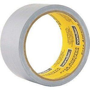 Fita Adesiva Silver Tape Reforçada, 50 Mm X 10 M, Prata Vonder