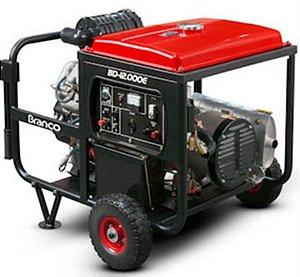 Gerador de Energia a Diesel de 11000 Watts 11 KVA Monofásico 220V BD-12000E G2 - Branco