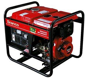 Gerador de Energia a Diesel de 2200 Watts 2,2 KVA BD-2500 - Branco