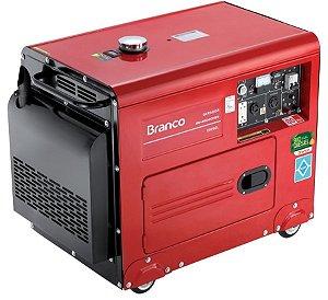 Gerador de Energia a Diesel de 4000 Watts 4 KVA Silencioso BD-6500SE - Branco