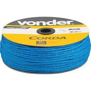 Corda Multifilamento Trançada 4mm x 360m azul carretel - Vonder