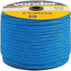 Corda Multifilamento Trançada 8mm x 258m azul carretel - Vonder