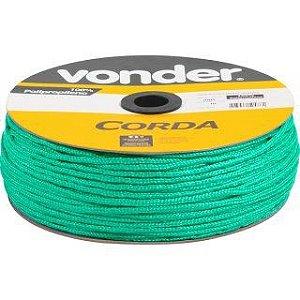 Corda Multifilamento Trançada 4mm x 360m verde carretel - Vonder