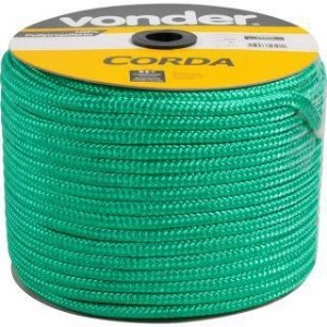 Corda Multifilamento Trançada 8mm x 258m verde carretel - Vonder