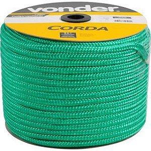 Corda Multifilamento Trançada 12mm x 140m verde carretel - Vonder