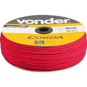 Corda Multifilamento Trançada 6mm x 165m vermelho carretel - Vonder
