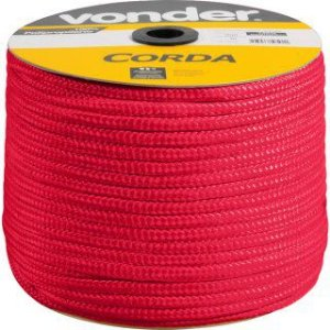Corda Multifilamento Trançada 8mm x 258m vermelho carretel - Vonder