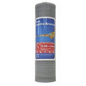 "Tela Viveiro Galvanizada Altura 0,80m rolo 50 metros BWG26 Malha 1/2"" - Morlan"