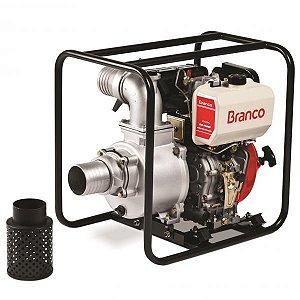 Motobomba a Diesel Bd-700 Cf 10,0cv Partida Manual Branco