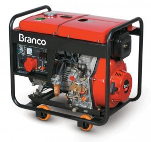 Gerador A Diesel Bd-8000e3 13cv Part Elétrica 380v Branco