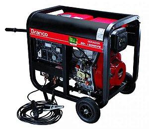 Gerador A Diesel Bd-w190e 10cv Part. Elétrica 110/220 Branco