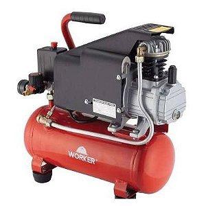 Compressor De Ar Profissional 1hp 6l 140l/m 127v 8bar Worker