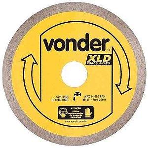 Disco De Corte Diamantado Para Porcelanato XLD 110mm - Vonder