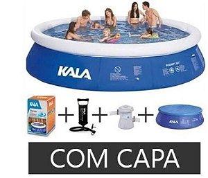 Piscina Inflável 10.200 Litros + Filtro + Bomba + Capa 127v - Kala
