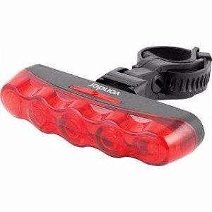 Lanterna Led P/ Bicicleta Suporte Luz Traseira 5 Leds - Vonder