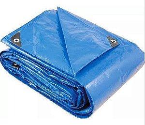 Lona Polietileno 8x7m Azul 200 Micras Reforçada