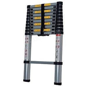 Escada Telescópica Alumínio Worker 9 Degraus 2,60m Promoção