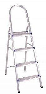 Escada Em Alumínio Doméstica 4 Degraus BelFix Promoção